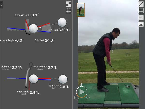 TrackMAn in use on the Driving Range at London Beach Tenterden